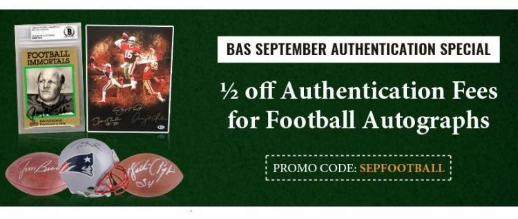 September Special- 1/2 off Football Autograph Authentication ;?>