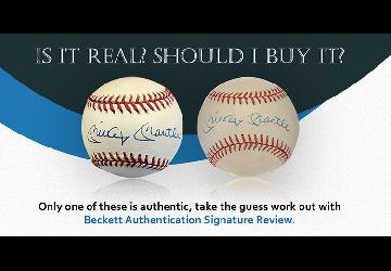 Beckett Authentication Launches New Signature Revi...