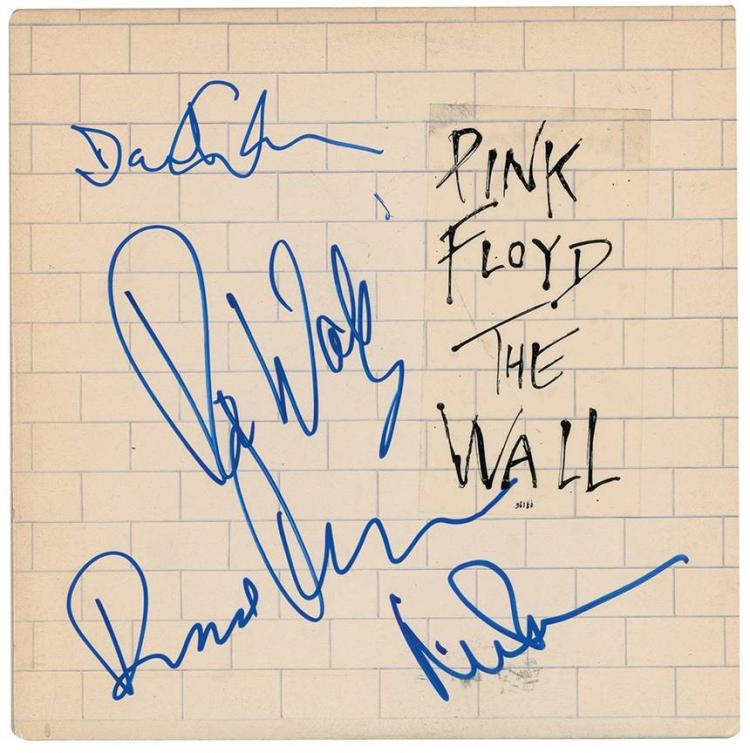 Pink Floyd autographed album hits high number at auction ;?>