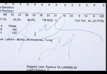 BAS Certified Kobe Bryant Score's Report Sales at Goldin Auctions