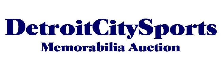 Detroit City Sports Vintage Sports Memorabilia Auction Now Live Online ;?>