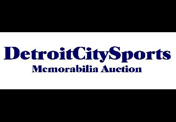 Detroit City Sports Vintage Sports Memorabilia Auction Now Live Online