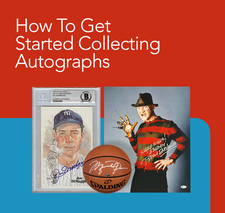 Getting Started in Collecting Autographed Memorabilia ;?>