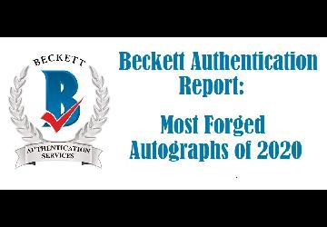 Most Forged Autographs, 2020