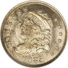 1835 (large 5c, small date)