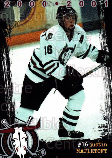 2000-01 Red Deer Rebels #12 Justin Mapletoft