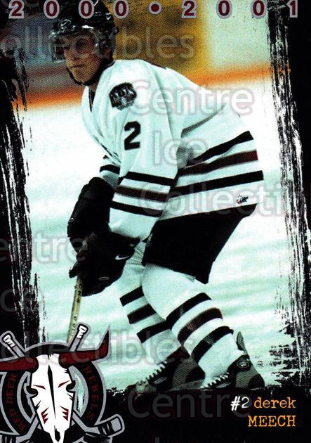 2000-01 Red Deer Rebels #13 Derek Meech