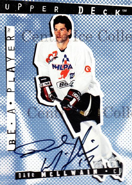 1994-95 Be A Player Autographs #9 Dave McLlwain