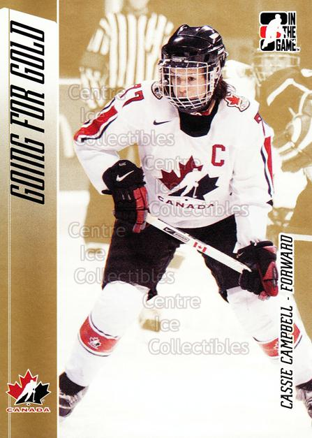 2006 ITG Going For Gold Women's National Team #12 Cassie Campbell