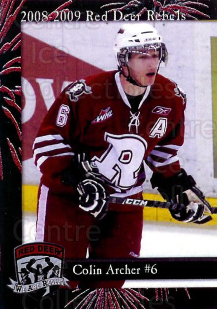 2008-09 Red Deer Rebels #1 Colin Archer