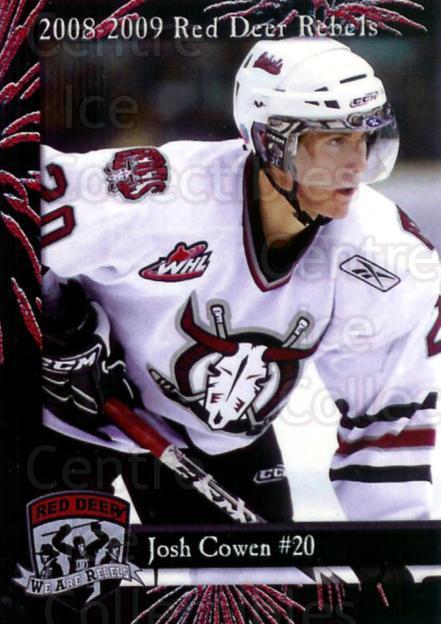 2008-09 Red Deer Rebels #3 Josh Cowen