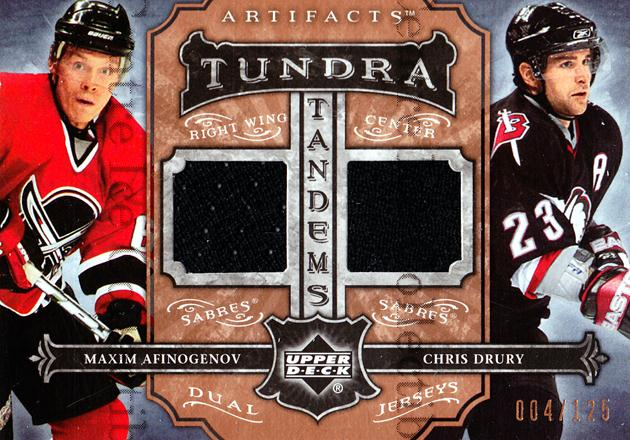2006-07 Artifacts Tundra Tandems #TTAD Maxim Afinogenov/Chris Drury