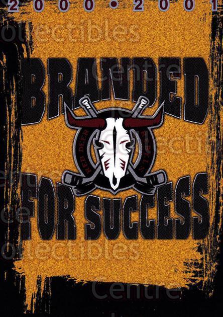 2000-01 Red Deer Rebels #24 Header Card, Checklist
