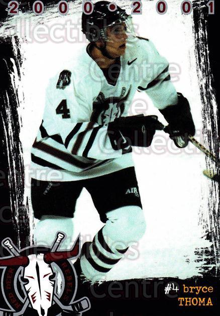 2000-01 Red Deer Rebels #18 Bryce Thoma