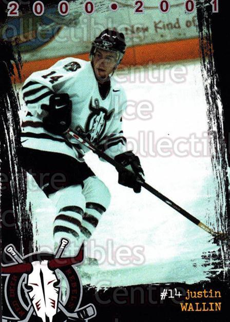 2000-01 Red Deer Rebels #21 Justin Wallin