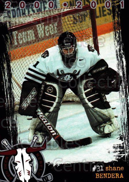 2000-01 Red Deer Rebels #2 Shane Bendera