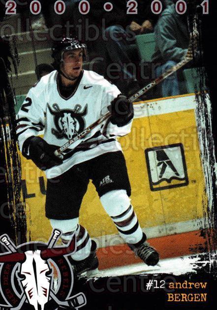 2000-01 Red Deer Rebels #3 Andrew Bergen
