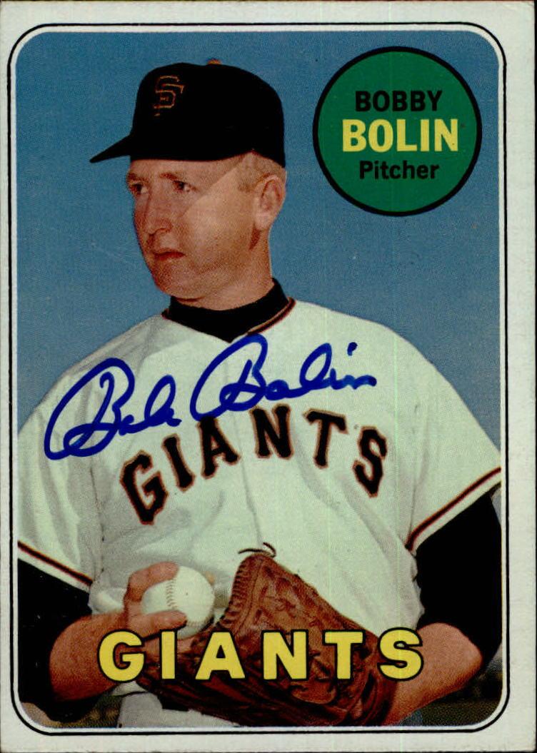 Bobby Bolin Signed 1969 Topps #505A  AUTO