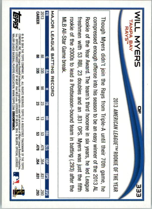 2014-Tarjeta-de-beisbol-Topps-Verde-Pick miniatura 62