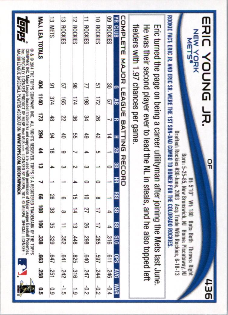 2014-Tarjeta-de-beisbol-Topps-Verde-Pick miniatura 70