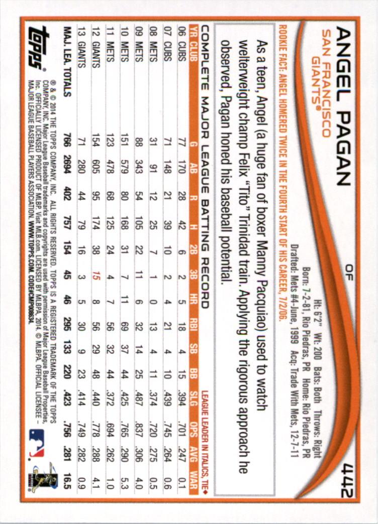 2014-Tarjeta-de-beisbol-Topps-Verde-Pick miniatura 72