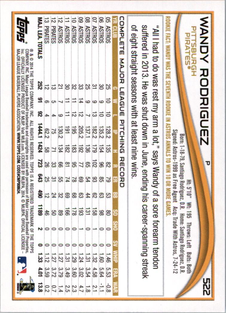 2014-Tarjeta-de-beisbol-Topps-Verde-Pick miniatura 81