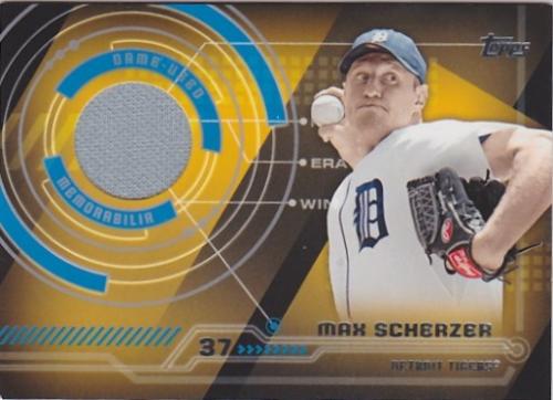 2014 Topps Trajectory Relics #TRMS Max Scherzer S2