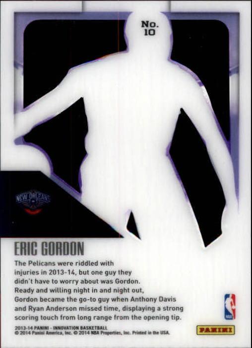 2013-14 Innovation Purple #10 Eric Gordon back image