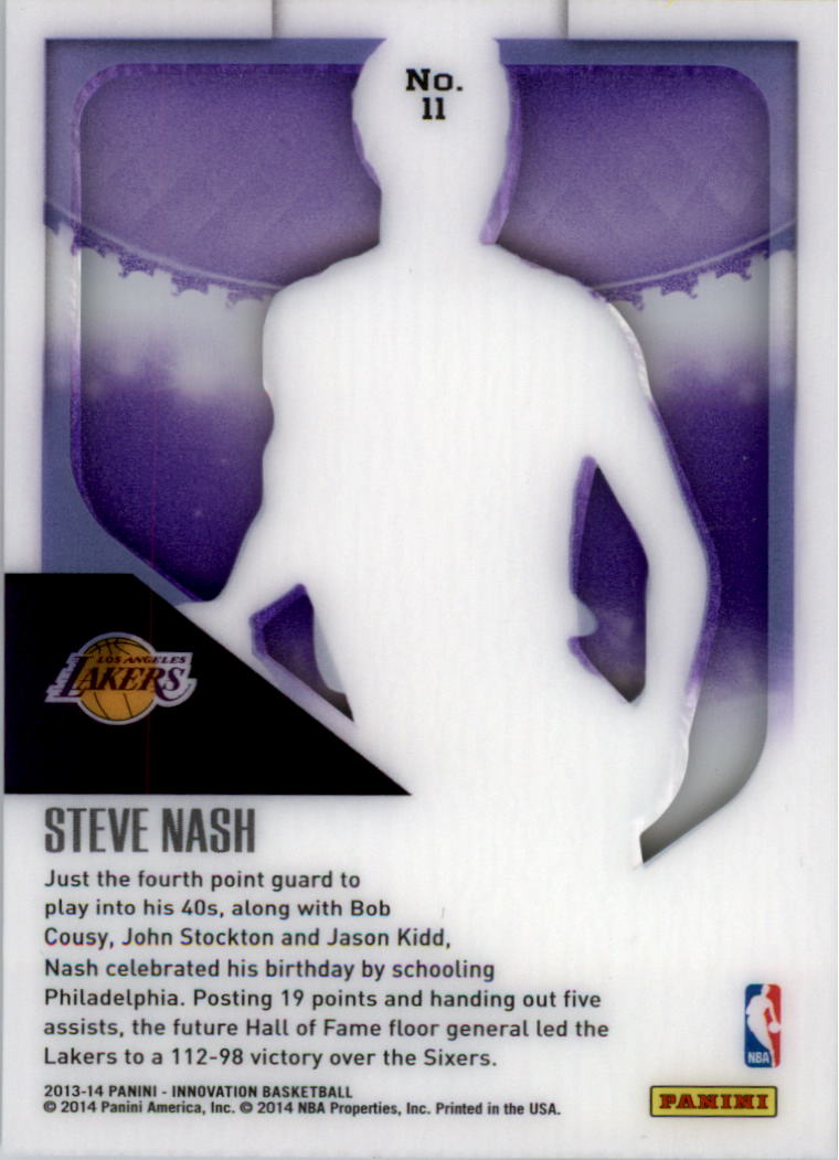 2013-14 Innovation Purple #11 Steve Nash back image