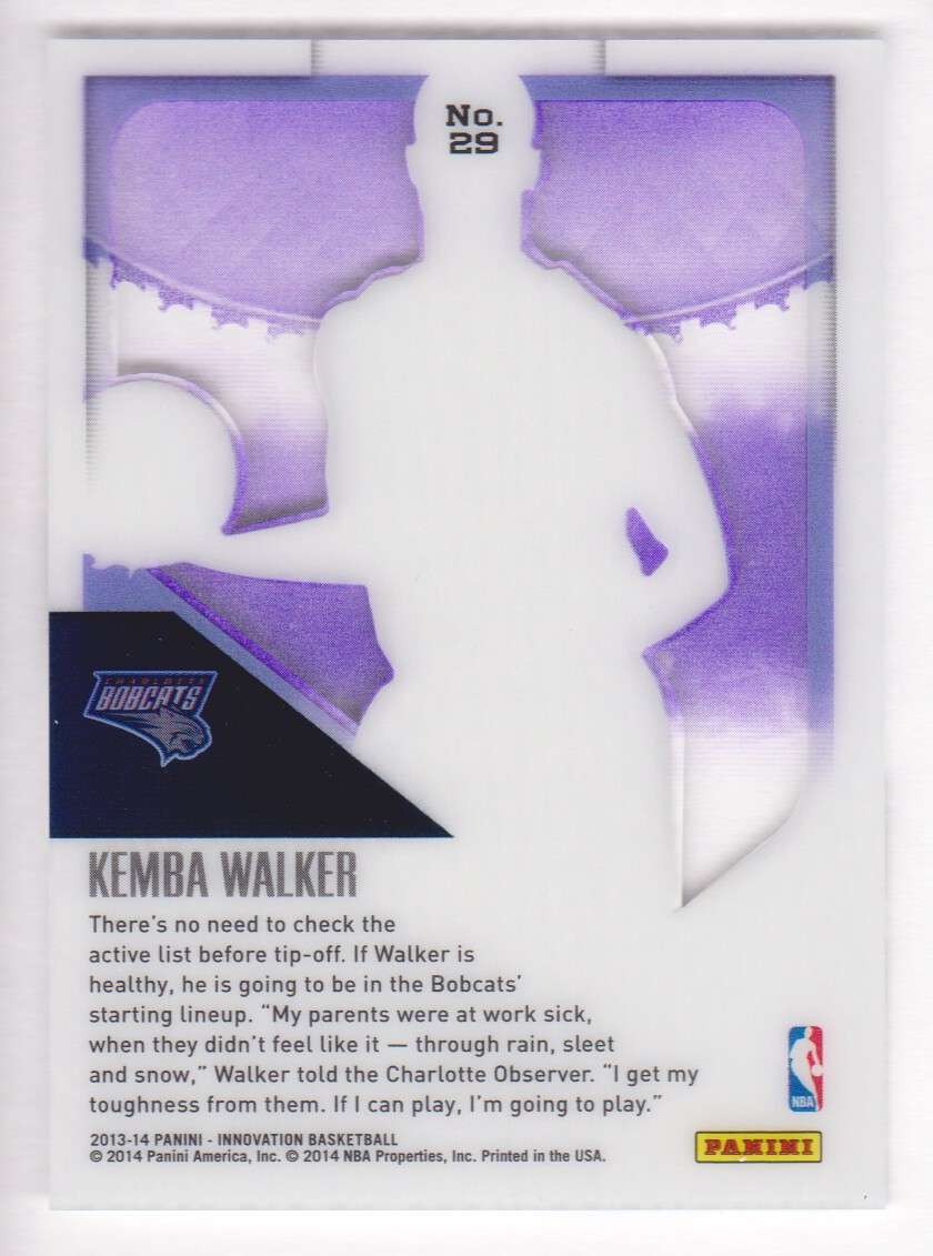 2013-14 Innovation Purple #29 Kemba Walker back image