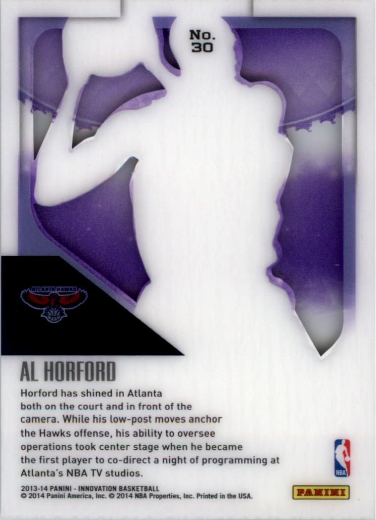 2013-14 Innovation Purple #30 Al Horford back image