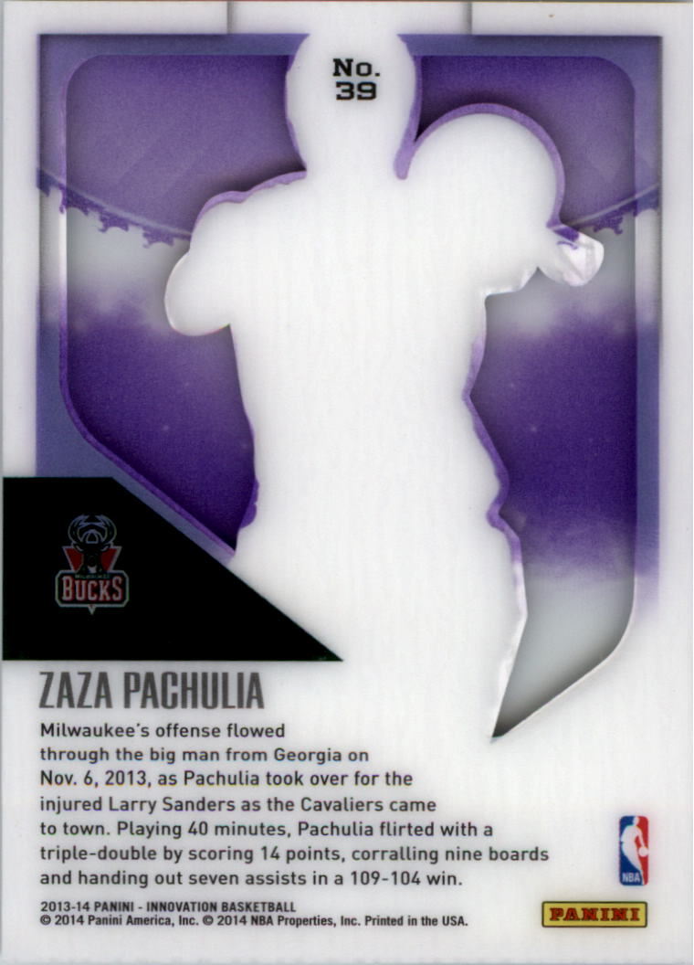2013-14 Innovation Purple #39 Zaza Pachulia back image