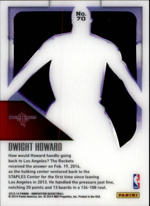2013-14 Innovation Purple #70 Dwight Howard back image