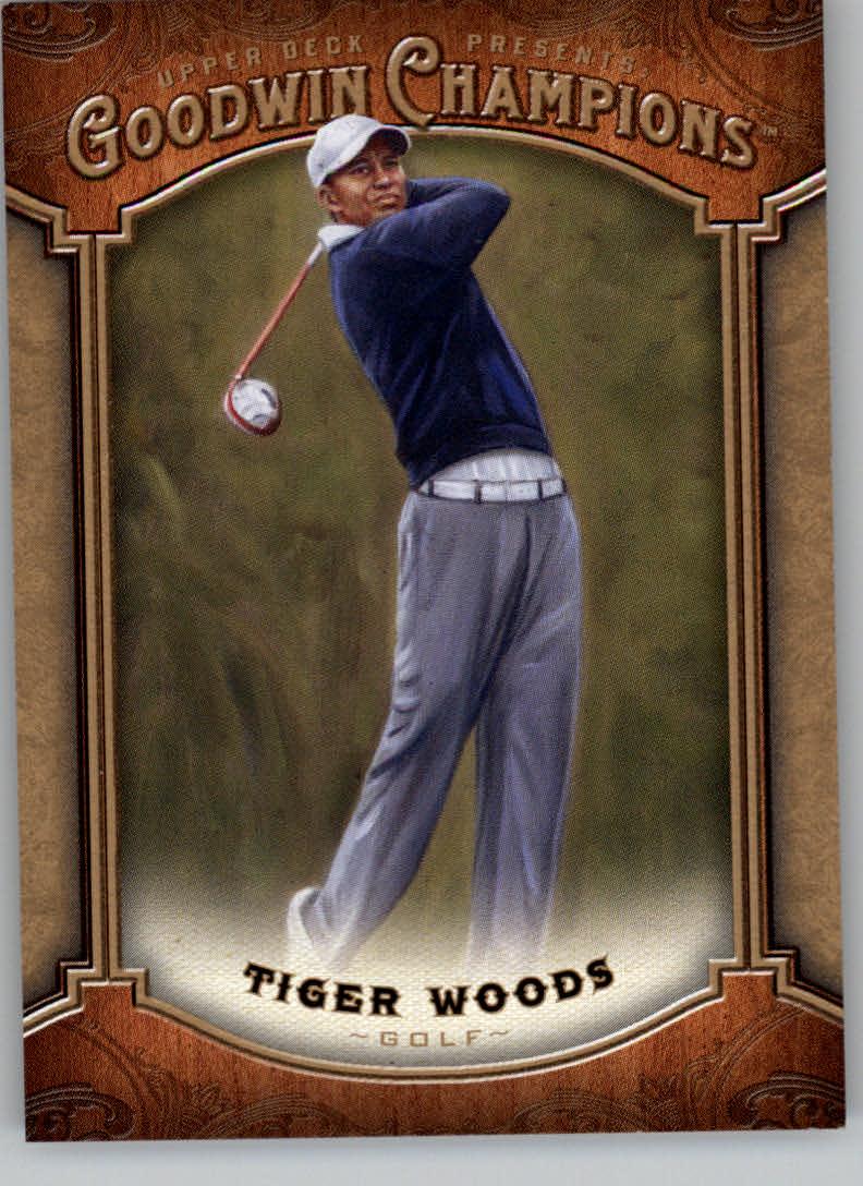 2014 Upper Deck Goodwin Champions #100 Tiger Woods