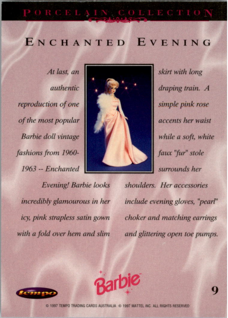 1997 World of Barbie #9 Enchanted Evening back image
