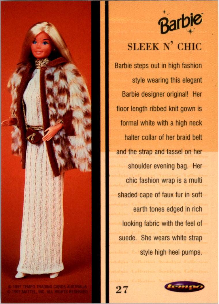 1997 World of Barbie #27 Sleek n' Chic back image
