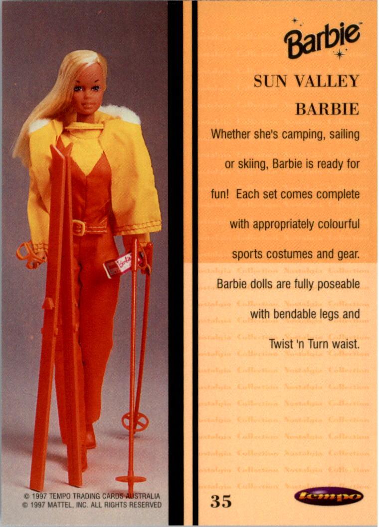 1997 World of Barbie #35 Sun Valley Barbie back image