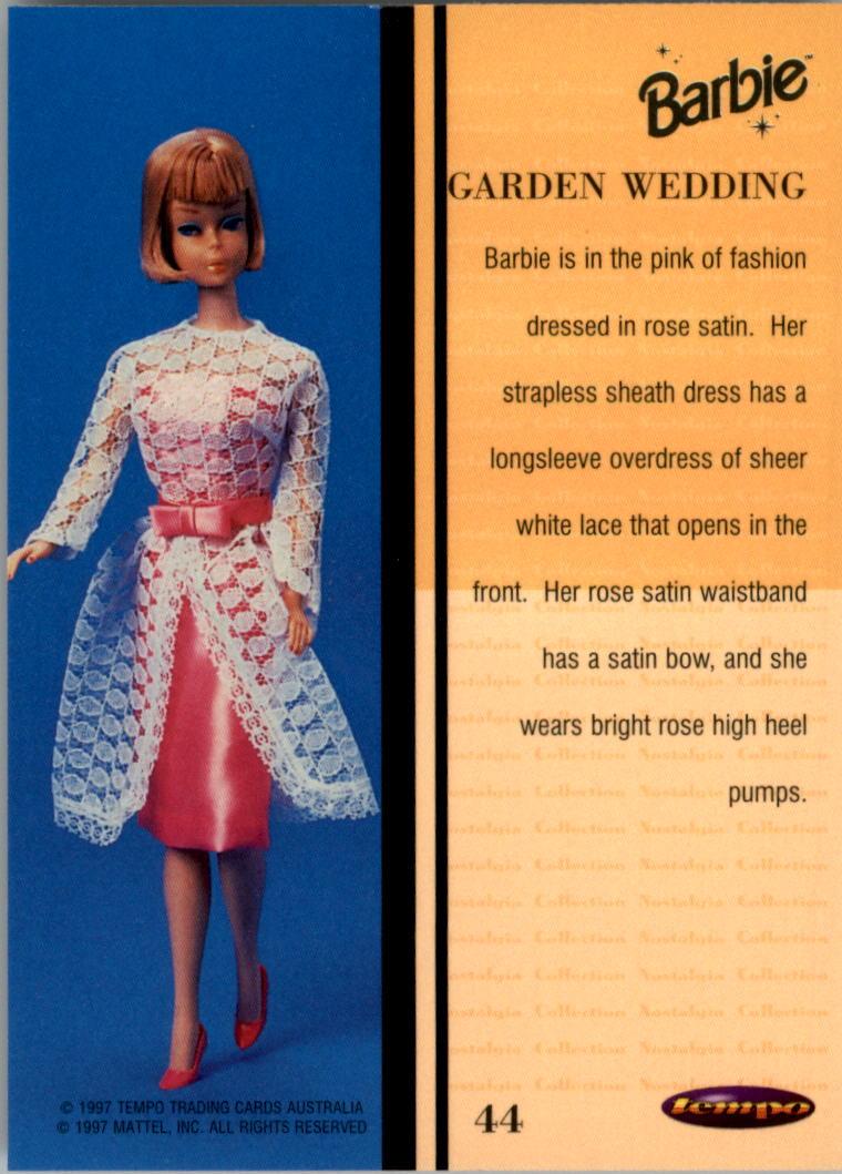 1997 World of Barbie #44 Garden Wedding back image