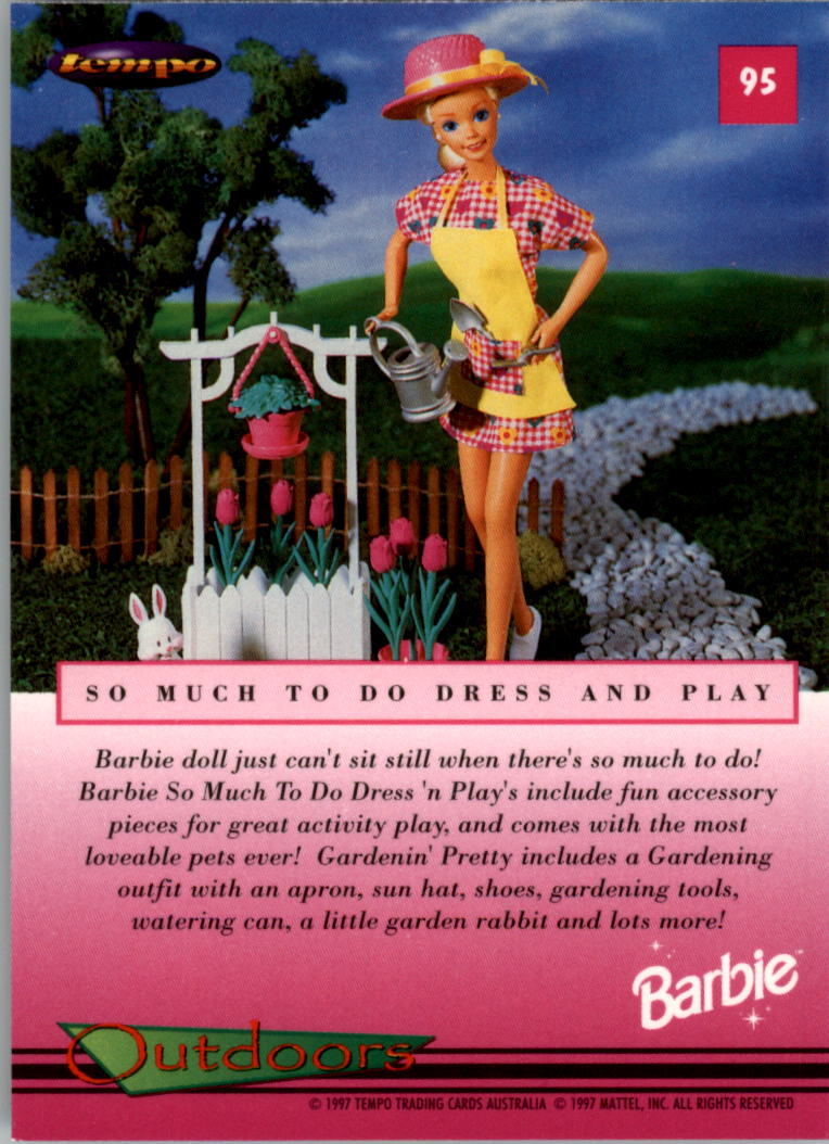 1997 World of Barbie #95 So Much To Do Dress and Play back image
