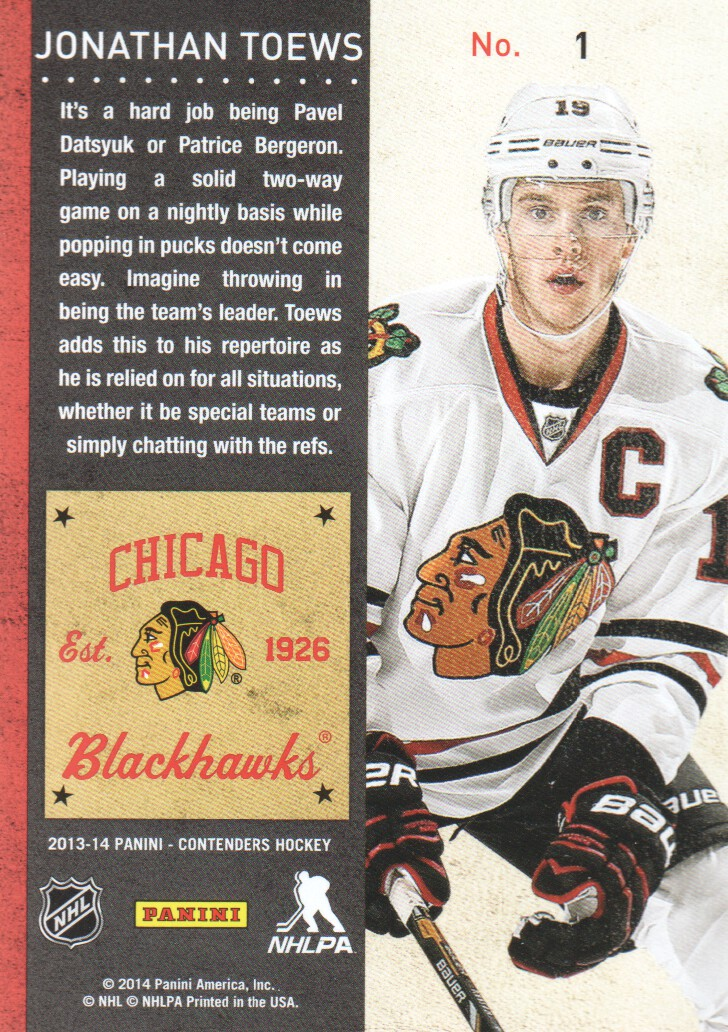 2013-14-Panini-Contenders-Hockey-Cards-Pick-From-List thumbnail 3
