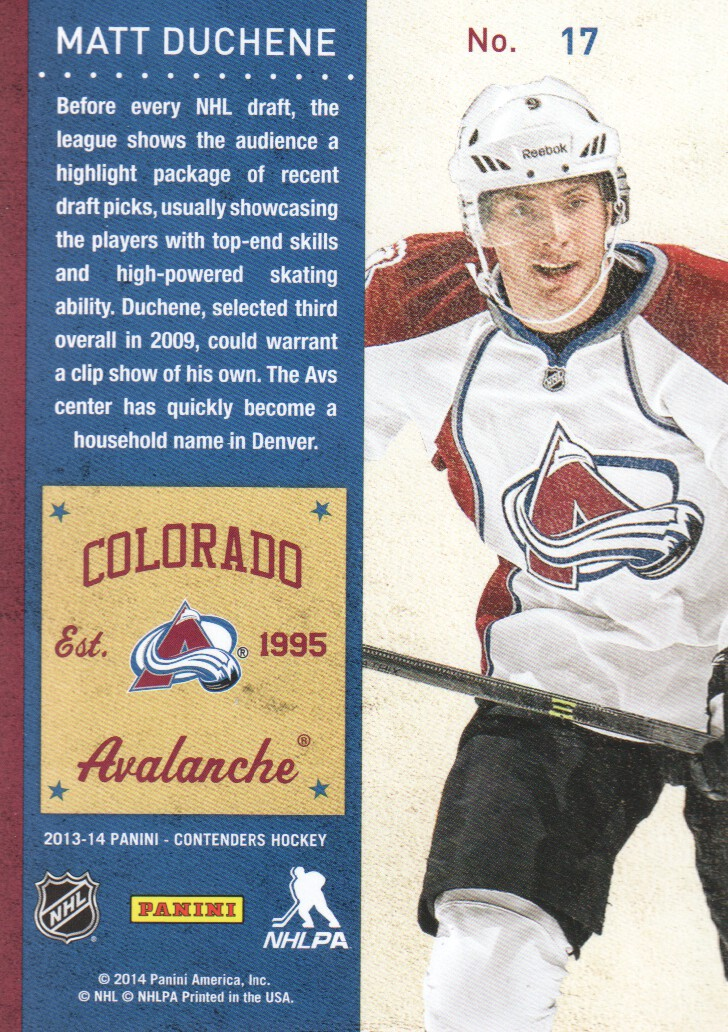 2013-14-Panini-Contenders-Hockey-Cards-Pick-From-List thumbnail 35
