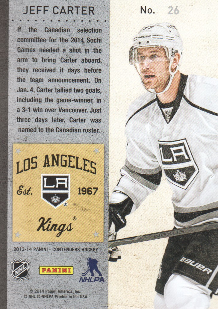 2013-14-Panini-Contenders-Hockey-Cards-Pick-From-List thumbnail 53
