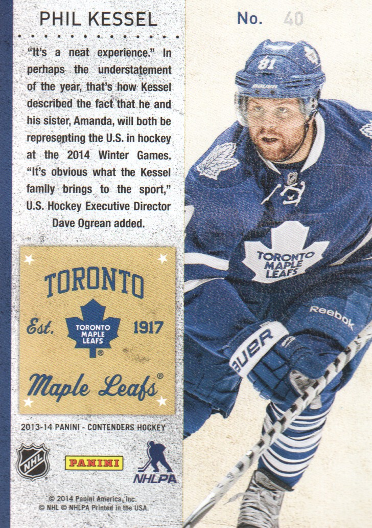 2013-14-Panini-Contenders-Hockey-Cards-Pick-From-List thumbnail 81