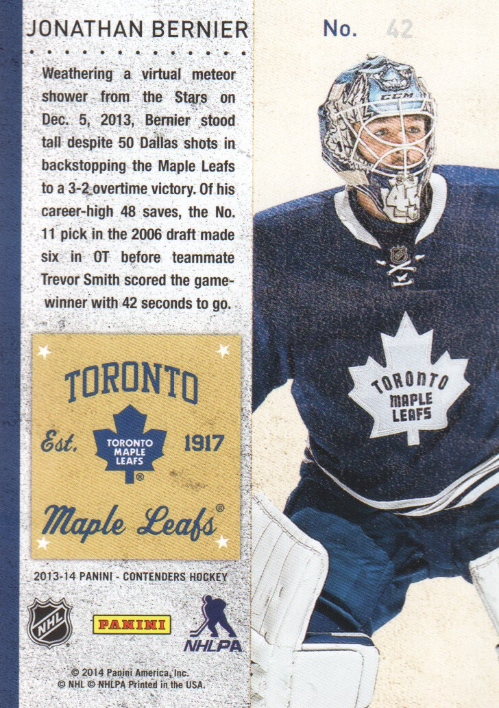 2013-14-Panini-Contenders-Hockey-Cards-Pick-From-List thumbnail 85
