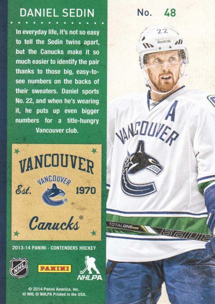 2013-14-Panini-Contenders-Hockey-Cards-Pick-From-List thumbnail 97