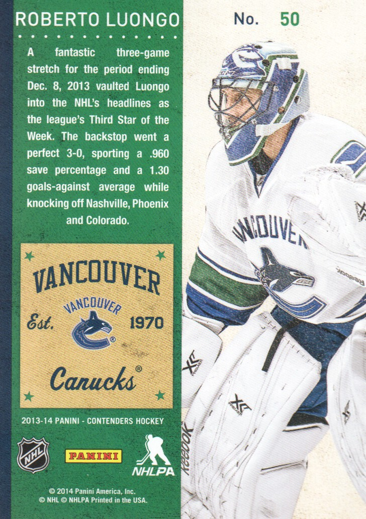 2013-14-Panini-Contenders-Hockey-Cards-Pick-From-List thumbnail 101