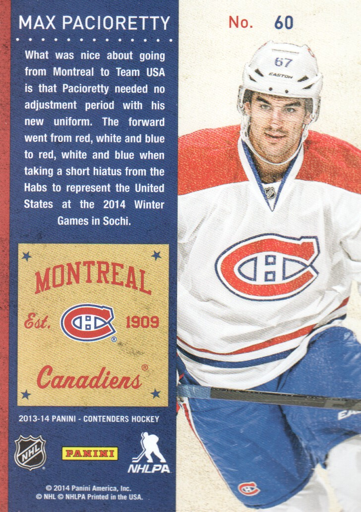 2013-14-Panini-Contenders-Hockey-Cards-Pick-From-List thumbnail 121