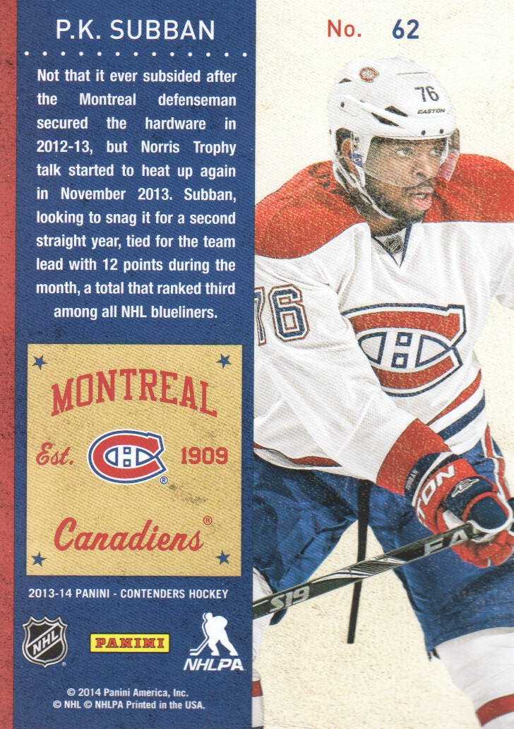 2013-14-Panini-Contenders-Hockey-Cards-Pick-From-List thumbnail 125