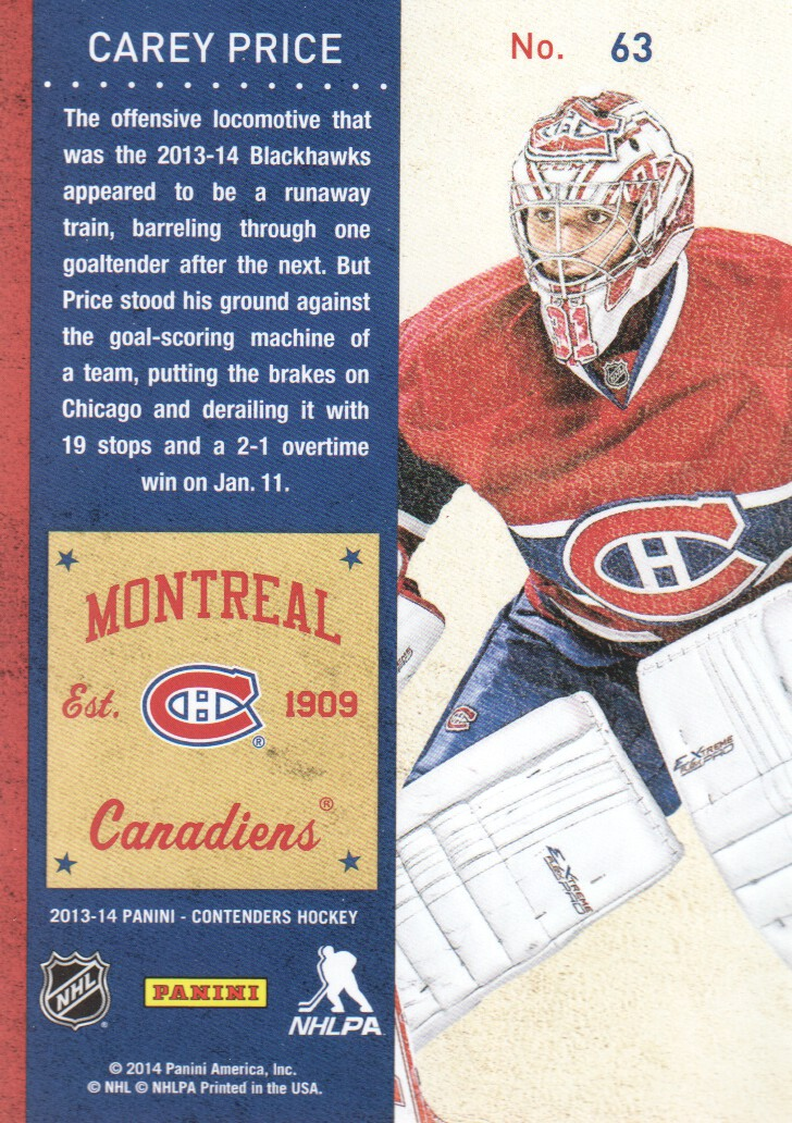 2013-14-Panini-Contenders-Hockey-Cards-Pick-From-List thumbnail 127