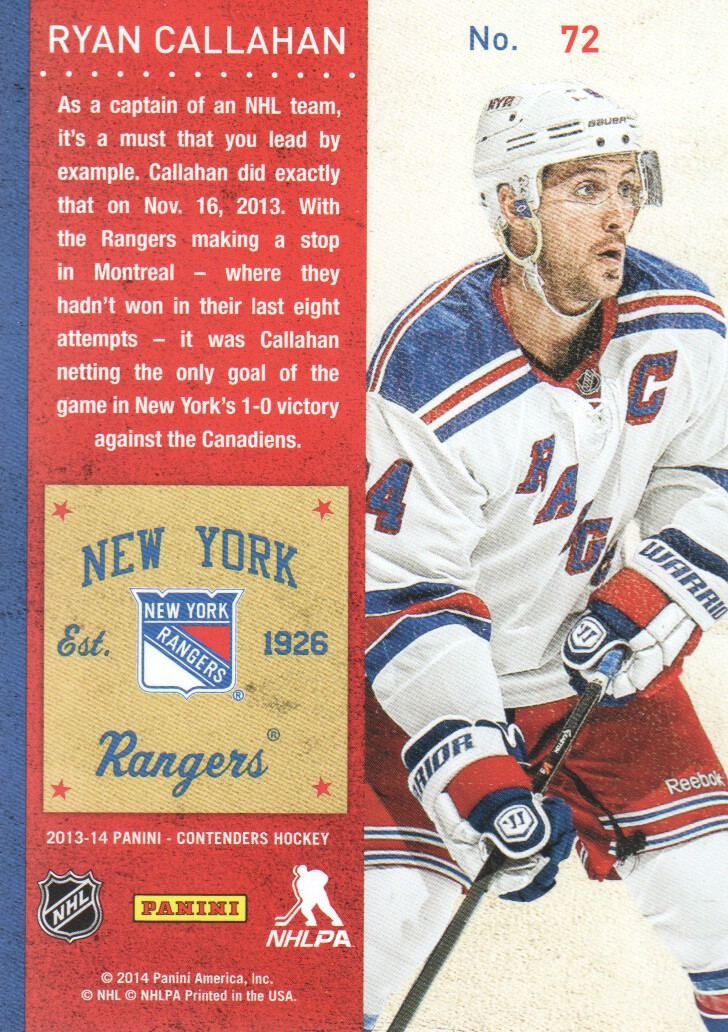 2013-14-Panini-Contenders-Hockey-Cards-Pick-From-List thumbnail 145